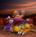 Wario and enemies - Wario World.png