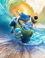 Blastoise and Piplup - Pokemon TCG Sun and Moon Cosmic Eclipse.jpg