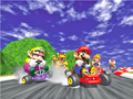 Title screen art - Mario Kart 64.png