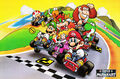 Crossing the finish line - Super Mario Kart.jpg