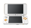 White + Orange (open) (angle) - New Nintendo 2DS XL.png