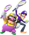 Wario and Waluigi (shadowless) - Mario Tennis Ultra Smash.png