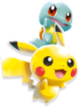 Pikachu and Squirtle - Pokemon Rumble Rush.png
