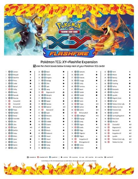 Clever image with pokemon card checklist printable