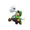 Baby Luigi and Blooper (shadowless) - Mario Kart 8.png