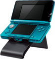 3DS on stand (at angle) - Kid Icarus Uprising.png