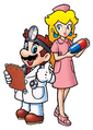 Dr. Mario and Princess Peach - Dr. Mario 64.png