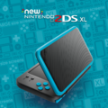 Black + Turquoise promotional image - New Nintendo 2DS XL.png