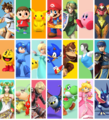 Character collage (alt 2) - Super Smash Bros. for Nintendo 3DS and Wii U.png