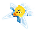 Yellow Kirby on Winged Star - Kirby Air Ride.png