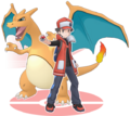 Red and Charizard - Pokemon Masters.png