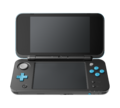 Black + Turquoise (open shot) (angle) - New Nintendo 2DS XL.png