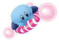 Blue Kirby on a Slick Star - Kirby Air Ride.png