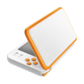 White + Orange (angled) - New Nintendo 2DS XL.png