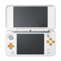 White + Orange (open) - New Nintendo 2DS XL.png