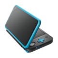 Black + Turquoise (angled shot) (alt) - New Nintendo 2DS XL.png