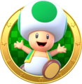 Green Toad badge - Mario Party Star Rush.png