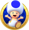 Blue Toad badge - Mario Party Star Rush.png