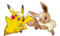 Pikachu and Eevee - Pokemon Let's Go Pikachu and Pokemon Lets Go Eevee.png