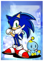 Sonic with a Chao - Sonic Adventure.png