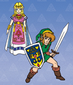Link and Princess Zelda - The Legend of Zelda A Link to the Past.png