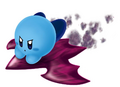 Blue Kirby on Shadow Star (alt 2) - Kirby Air Ride.png