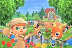Spring illustration for Animal Crossing: New Horizons