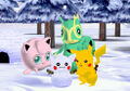 Snowman at Mt Snowfall - Pokemon Channel.jpg