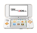White + Orange (open) (angle) (powered on) - New Nintendo 2DS XL.png