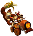 Donkey Kong and Diddy Kong - Mario Kart Double Dash.png