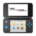 Black + Turquoise (open shot) (powered on) - New Nintendo 2DS XL.png