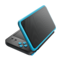 Black + Turquoise (angled shot) - New Nintendo 2DS XL.png