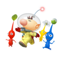Captain Olimar and Pikmin (shadowless) - Super Smash Bros. for Nintendo 3DS and Wii U.png