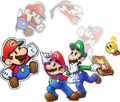 Group art (shadowless) - Mario & Luigi Paper Jam.png