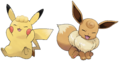Pikachu and Eevee hairstyles - Pokemon Let's Go Pikachu and Pokemon Let's Go Eevee.png