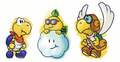 Kooper, Lakilester and Parakarry concept art - Paper Mario.png