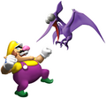 Wario and Cractyl - Wario World.png