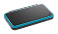 Black + Turquoise (closed and angled shot) - New Nintendo 2DS XL.png