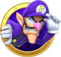 Waluigi badge - Mario Party Star Rush.png