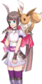 Heroine and Eevee (Rank 1) (alt 2) - Pokemon Conquest.png