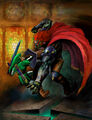 Link against Ganondorf - The Legend of Zelda Ocarina of Time.jpg