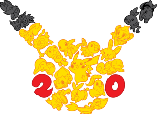 The logo for the Pokémon 20th Anniversary celebrations