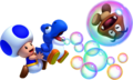Blue Toad and Bubble Baby Yoshi (alt) - New Super Mario Bros. U.png