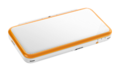 White + Orange (closed) (angled) - New Nintendo 2DS XL.png