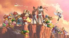 Artwork featuring Kazuya Mishima from Super Smash Bros. Ultimate