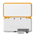 White + Orange (back with opened card slot) - New Nintendo 2DS XL.png