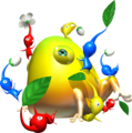 Attacking a Yellow Wollywog - Pikmin.png
