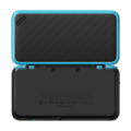 Black + Turquoise (open shot) (back) - New Nintendo 2DS XL.png