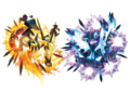 Dawn Wings Necrozma and Dusk Mane Necrozma - Pokemon Ultra Sun and Ultra Moon.png
