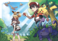 Trainers and partner Pokemon - Pokemon Let's Go Pikachu and Pokemon Let's Go Eevee.png